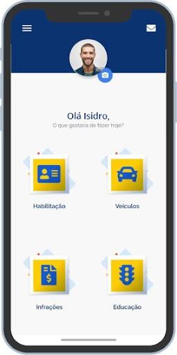 O jeito mais simples de consultar a pontuação na habilitação é pelo aplicativo da habilitação digital. (Fonte: Serpro/Reprodução)