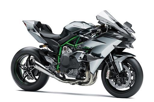 A Kawasaki Ninja H2R é a moto mais rápida do mundo, com 400 km/h, mas só pode andar nas pistas. (Fonte: Kawasaki/Reprodução)